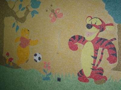 детская комната с жидкими обоями