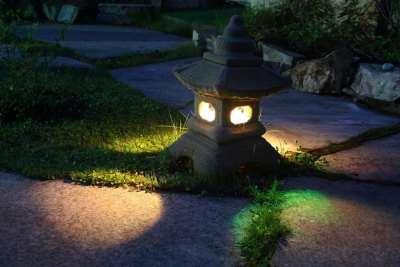 Освещение в садах
