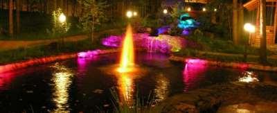 Освещение в садах, гармония и красота