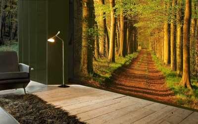 Фотообои в дизайне маленькой квартиры