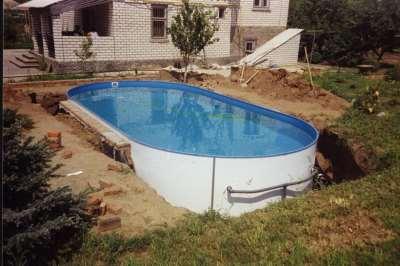 стационарный бассейн на даче