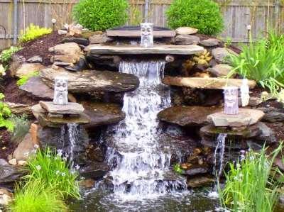 водопад во дворе, фото
