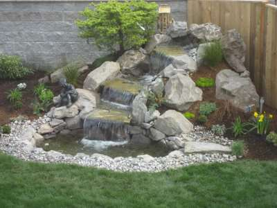 Водопад во дворе, дизайн вашего участка