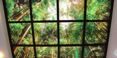 Уникальный потолок из оргстекла с подсветкой