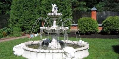 Оформление сада скульптурными элементами