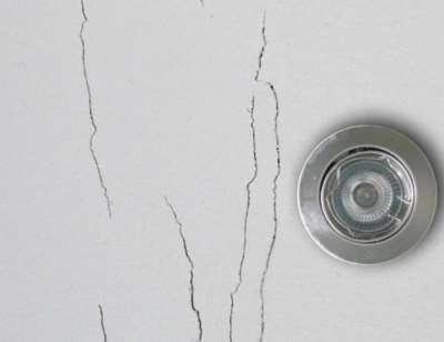 Трещины в стыках гипсокартона, фото