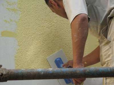 Покраска стены, фото
