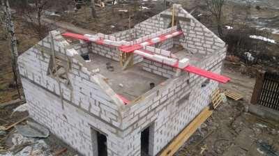 Дом, построенный из пеноблоков