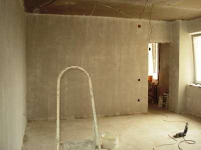 Стены подготовленные к гипсокартону