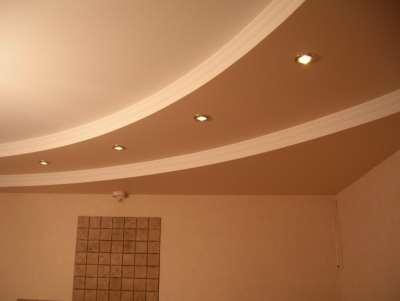 Потолок из гипсокартона, фото