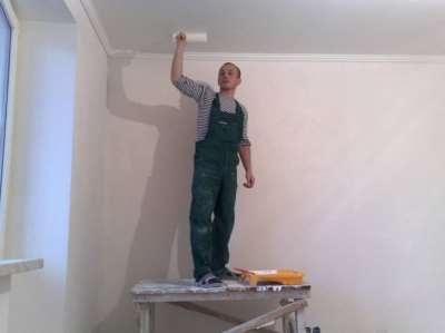 Окрашивание потолка, фото