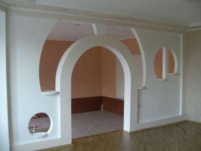 Гипсокартон, арка