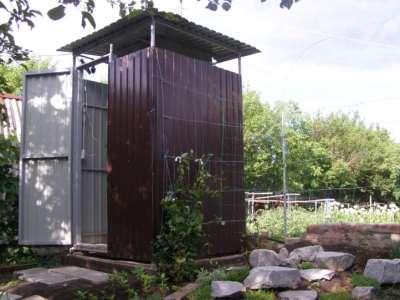 Дачный душ, металл