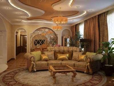 Египетский стиль, дизайн зала