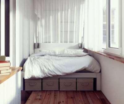 Балкон в спальню, фото