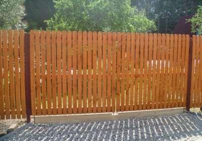 Забор для дачи, фото