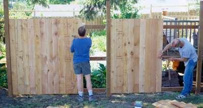 Забор для дачи из дерева своими руками