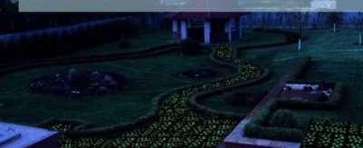 Светящаяся тротуарная плитка, лунная дорожка