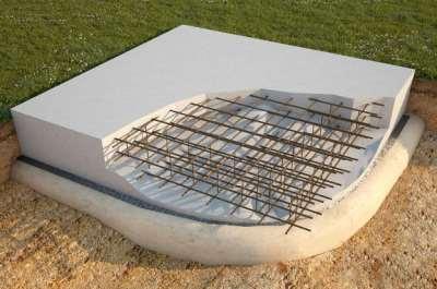 Плитный фундамент, фото