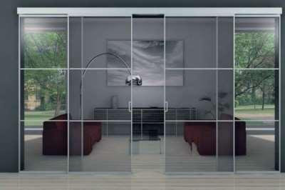 Стеклянные двери – поле для дизайнерского воображения
