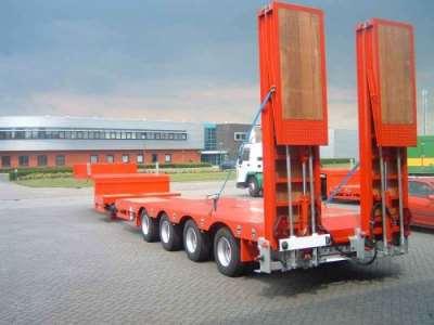 Виды низкорамных тралов для перевозки негабаритных грузов