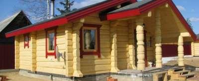 Нюансы возведения домов из лафета