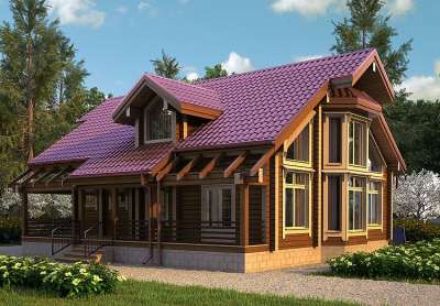 Уютные компактные дома из профилированного бруса