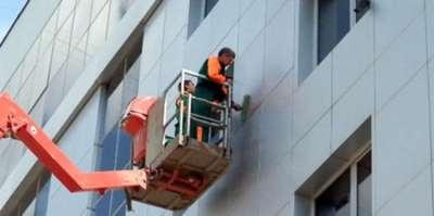 Какие процессы включают фасадные работы на высоте