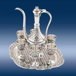 Безупречные кубачинские чайные сервизы из серебра