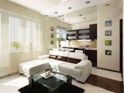Простой и доступный дизайн интерьера в квартире-студии