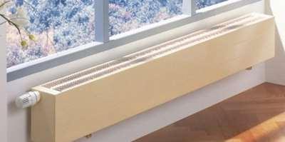 Устройство отопительных водяных конвекторов настенного типа