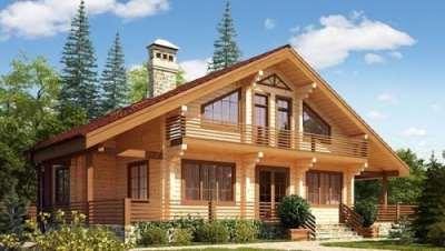 Возведение деревянных домов из бруса под ключ в СПб и Москве