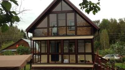 Разновидности остекления коттеджей и домов