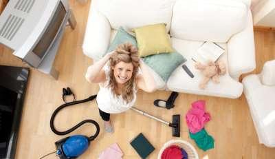 Быстрая уборка квартиры перед приездом родителей или девушки
