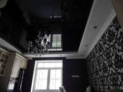 Черные натяжные потолки от компании «ГРАД»