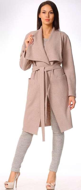 Пальто из вареной шерсти – стильный осенний лук