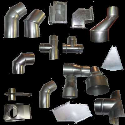 Виды жестяных изделий для дымоходов, вентиляции, водостоков