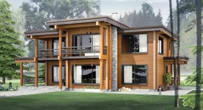 Оперативное возведение домов из клееного бруса