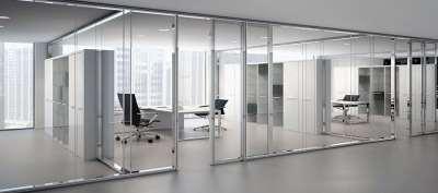 Стеклянные перегородки для современных офисов