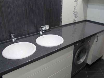 Почему лучше выбрать искусственный камень для столешницы в ванной